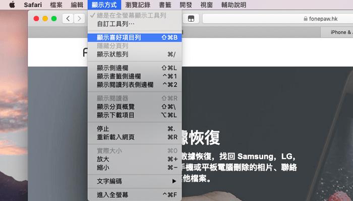 Mac Safari 書籖消失救回