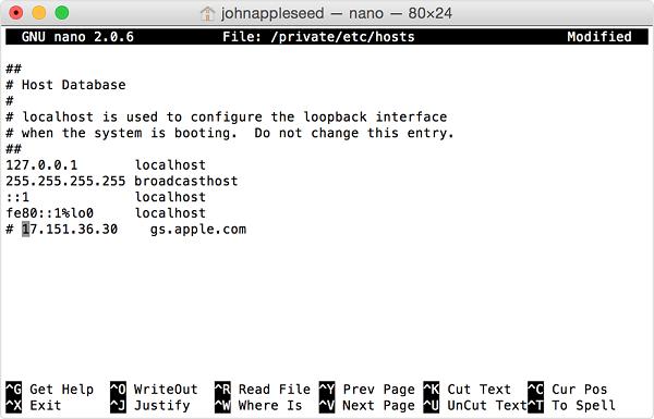 修改 Mac Host 文檔
