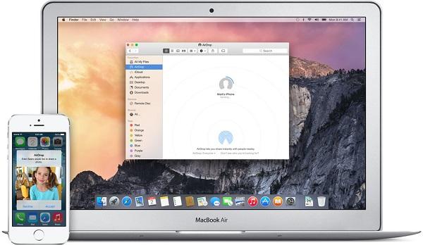 透過 AirDrop 傳 iPhone 相片到 Mac