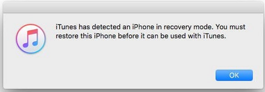 itunes detected in recovery mode