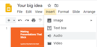 在 Google Slides 中加入旁白
