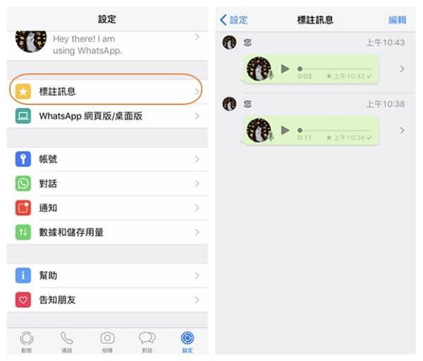 WhatsApp 語音訊息儲存位置