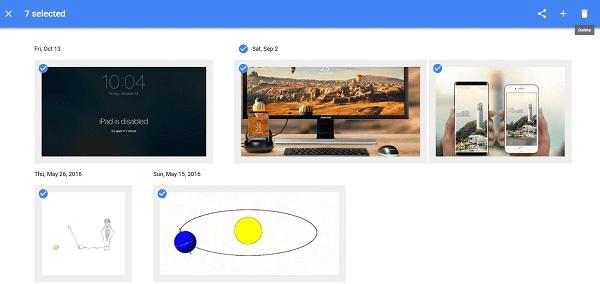 刪除所有 Google 相簿上的照片