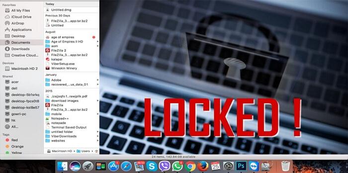 Mac 機密資料夾上鎖