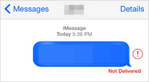 iMessage 無法發送原因
