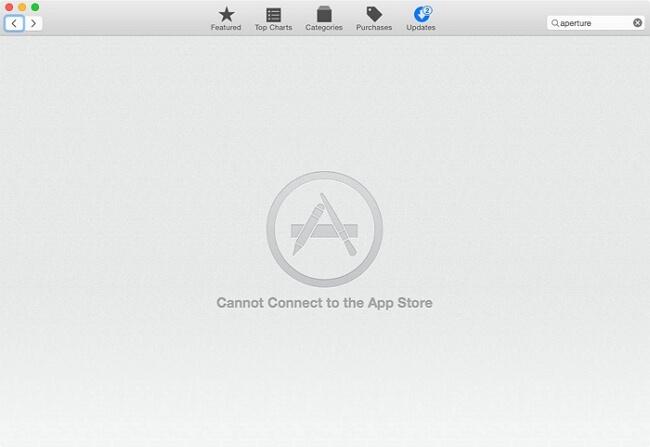 搜尋無法連接 App store