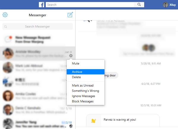 messenger存檔訊息