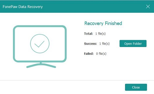 Recovery Finished